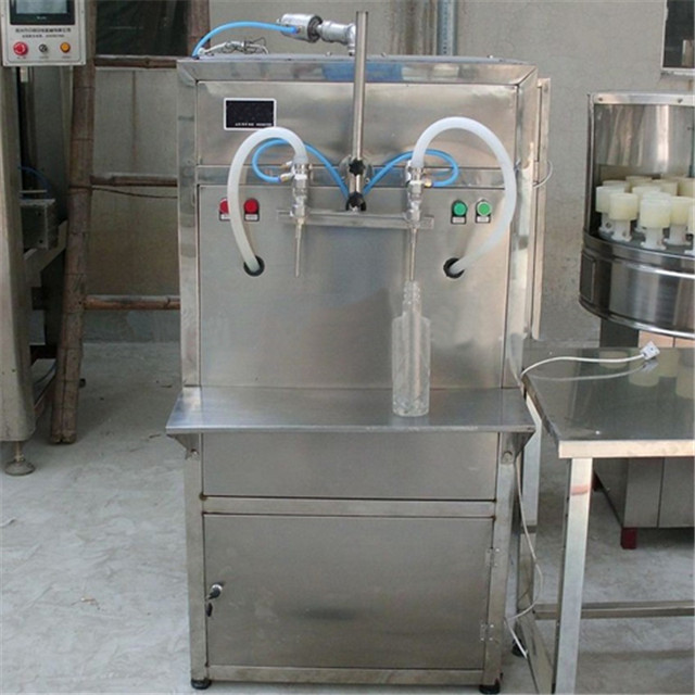 dual head semi automatic liquid wine olive lub oil filling machine 0.5L-5L plastic glass bottle filler equipment