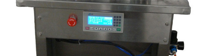 control panel of the  Semi automatic vacuum filling machine